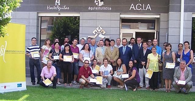 Entrega del distintivo ´Sol Región de Murcia´ a 46 comercios de Alcantarilla