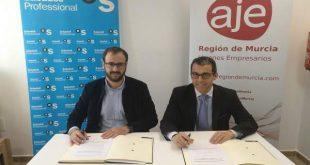 AJE Región de Murcia y Banco Sabadell firman alianza para apoyar nuevos emprendimientos
