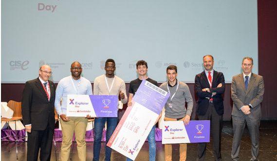 Estudiante emprendedor de la Universidad de Murcia es premiado en el Explorer Day 2018